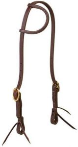 "Working Cowboy Sliding Ear Headstall, 5/8"", Solid Brass"