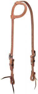 "ProTack 3/4"" Sliding Ear Headstall with Buffed Brown Hardware 10-0691"