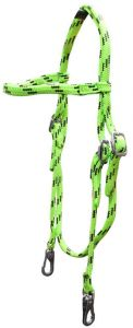 Soft Braid Browband Headstall - Lime/Black