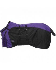 1200D Waterproof Poly Turnout Blanket with Belly Wrap and Snuggit™ Neck