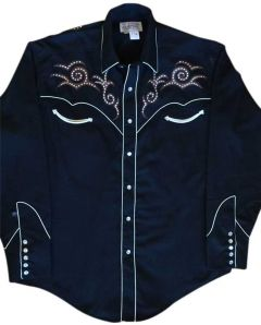 Vintage Scroll Tooling Embroidery Western Shirt