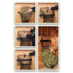 Original Hay Hoops Collapsible Wall Hay Feeder with Net in Hammered Finish