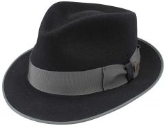 Dobbs Hashtag Black Wool Hat