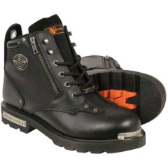 Men's Classic Motorcycle Boot With Side Zipper