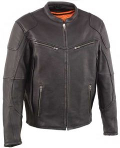 Men's Vented Scooter Jacket w/ Cool TeC Leather & Side Stretch