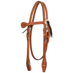 """Julie Goodnight Leaf with Border Browband Headstall 5/8"""""""