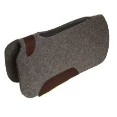"Bar J Punch Cut Contoured Top Wool Pad 30"" x 30"" 3/4"""