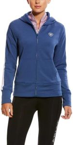 Ariat Ladies AriatTEK Milton 3D Indigo Blue Full-Zip Hoodie