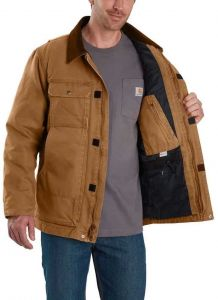 Men's Carhartt Brown Cotton Full Swing Traditional Coat