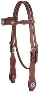Texas Star Scalloped Browband Headstall
