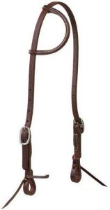 """Working Cowboy Sliding Ear Headstall, 5/8"""", Stainless Steel"""