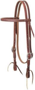 """Working Cowboy Economy Browband Headstall, 5/8"""", Stainless Steel"""