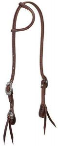 Working Tack Sliding Ear Headstall with Floral Hardware