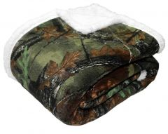 Trail Crest Plush Coral Fleece Camo Double Layer Blanket 50x60