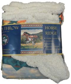 Horse Ridge Sherpa Throw Blanket