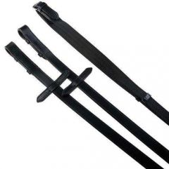 """Kincade Sure Grip Web Reins with Leather Stops and Hook Studs 3/4"""" Wide"""