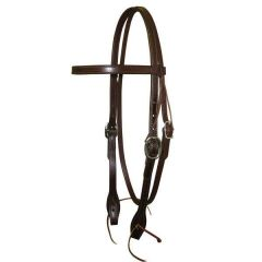 Bar J Bridle Leather Browband Headstall