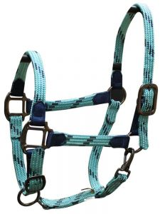 Soft Braid Halter - Turquoise/Navy