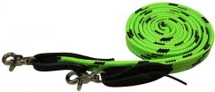 Soft Braid Reins - Lime/Black
