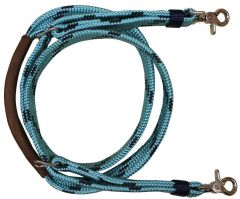 Soft Braid Shooting Reins - Turquoise/Navy