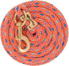 Poly Lead Rope with Solid Brass 225 Snap, Coral/ French Blue/Mint/Lavender