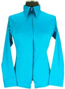 Youth Fitted Show Shirt - Turquoise