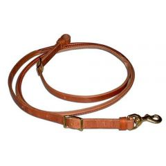 Rolled Leather Roping Reins