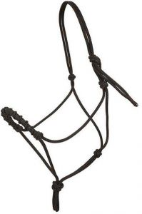 Stacy Westfall Rope Halter, Small - Black