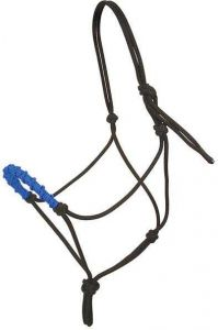 Stacy Westfall Rope Halter, Small - Blue