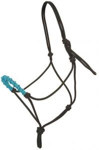 Stacy Westfall Rope Halter, Small - Turquoise