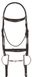 Ovation Breed Fancy Stitched Raised Padded Bridle- Quarter Horse