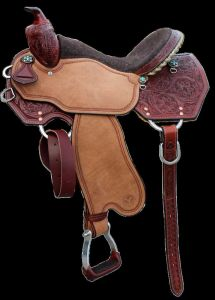 Hired Gun Horsemanship Floral Shooting Saddle