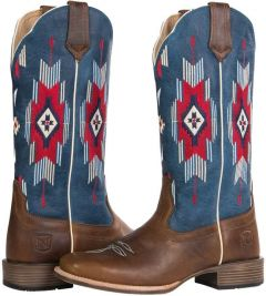 Women's All Around Boots Square Toe Santa Fe Rustic Brown