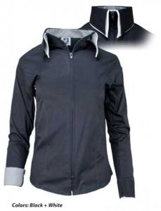 Double Collar Zip Black With White Show Shirt