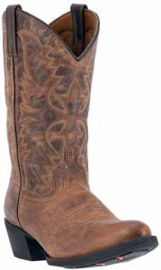 Laredo Men's Duster Tan Round Toe Cowboy Boots