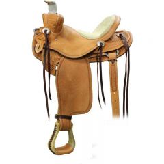 Denny Chapman II Mounted Shooting Saddle With Bear Trap