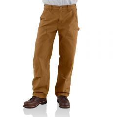 Carhartt Brown Double-Front Work Dungarees