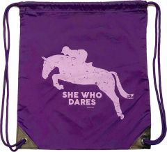 She Who Dares Draw string bag