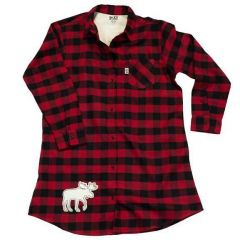 Flannel Button Down Nightshirt