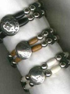 2 Stand Beaded Concho Bracelet