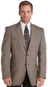 Mens Plano Sportcoat Long Sleeve Lambswool