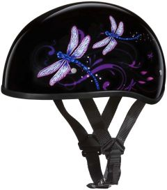 D.O.T. Daytona Skull Cap With Dragonfly