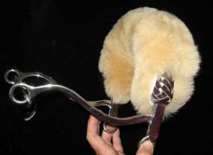 Sheepskin Hackamore Cover - Natural Color
