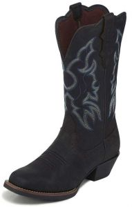Justin Ladies Brandy Dark Brown Boots