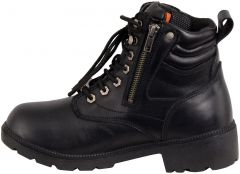 Women's Waterproof Side Zipper Plain Toe Boot