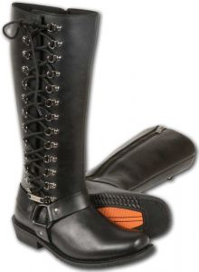 Milwaukee Leather Ladies Tall Boot With Side Lace