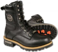 Milwaukee Leather Men's Classic Boots with Side Zip Closure