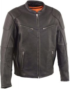 Men's Vented Scooter Jacket w/ Cool Tec® Leather & Side Stretch