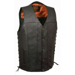Men's Straight Bottom Side Lace Vest