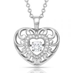 Waves Of Love Heart Necklace